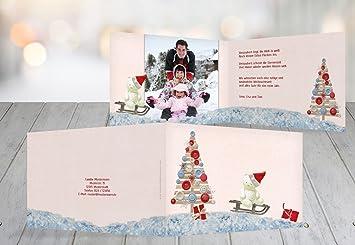 Weihnachtsgrüße Personalisiert.Kartenparadies Grußkarte Weihnachten Foto Grußkarte Schlittenfahrt