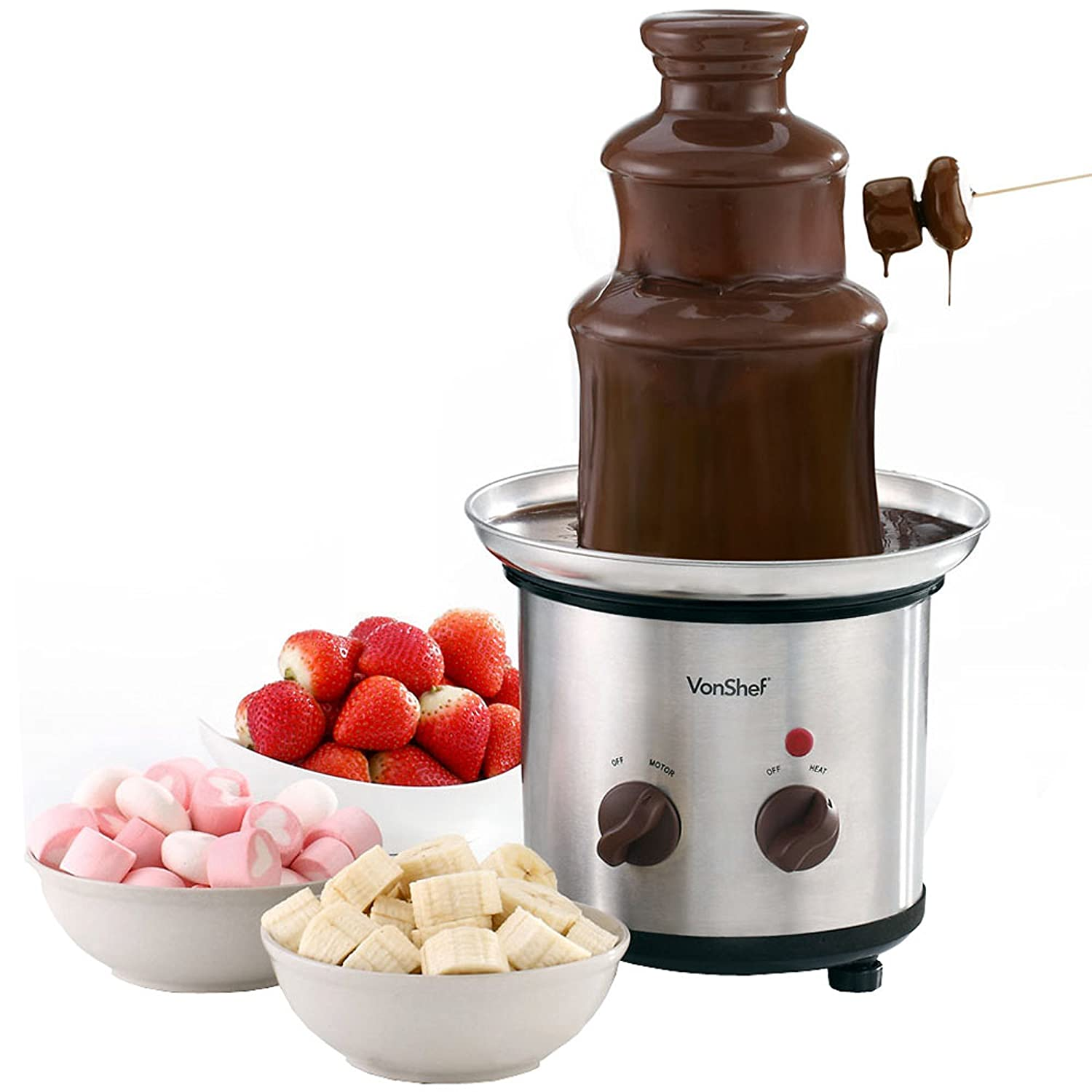 VonShef Premium Luxury Chocolate Fondue Fountain Designer Habitat LTD 13/086