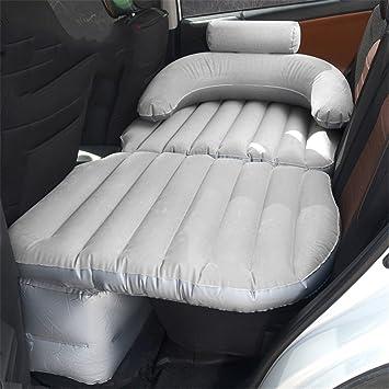 99b68e65d STAZSX Puede Sentarse reclinable Coche Cama Inflable Coche Fila Trasera  niños Cama de Viaje Coche Cama Coche SUV colchoneta, Flocado gris-135x78CM:  ...