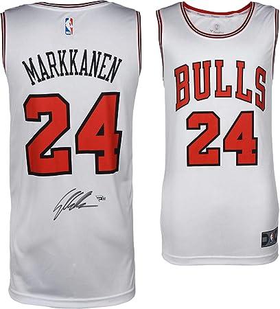 promo code e9536 6db9b Lauri Markkanen Chicago Bulls Autographed White Fanatics ...