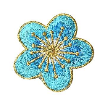 Ularma 10PC DIY Bordado Flores Coser Parches Ciruela Flor Apliques Ropa Bordado Parche Adhesivo De Hierro Coser Tela, Remiendo del Bordado (F): Amazon.es: ...