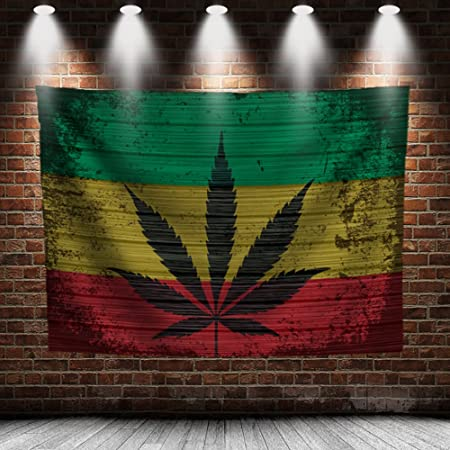 """Marijuana Leaf Flags Cannabis Weed Poster Flags Reefer Grass Tapestry 36/"""" X 24/"""""""