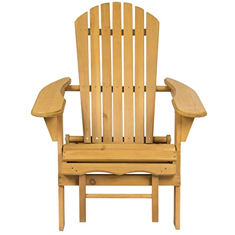 Terrific Amazon Com Wooden Adirondack Chair With Pull Out Ottoman Cjindustries Chair Design For Home Cjindustriesco