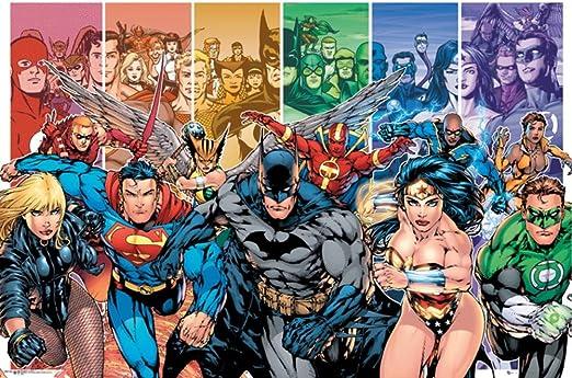 Poster DC Comics Liga de la Justicia Personajes