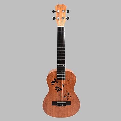 Caramel ct400 a Ukelele Tenor Guitarra de estilo mariposa Madera ...