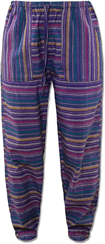 Trousers Pants Cargo Combat Striped Hippie Lounge India ... |Hippie Striped Pants