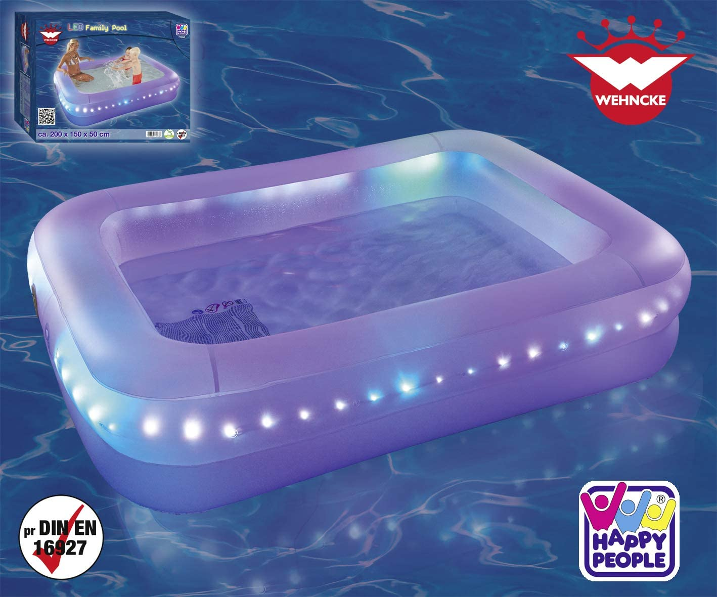 Happy People 77653 - Piscina LED para Familia: Amazon.es: Juguetes ...