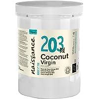 Naissance Organic Virgin Coconut Oil (Solid) (no. 203) 1kg - Puur, Natuurlijk, Gecertificeerd Biologisch…