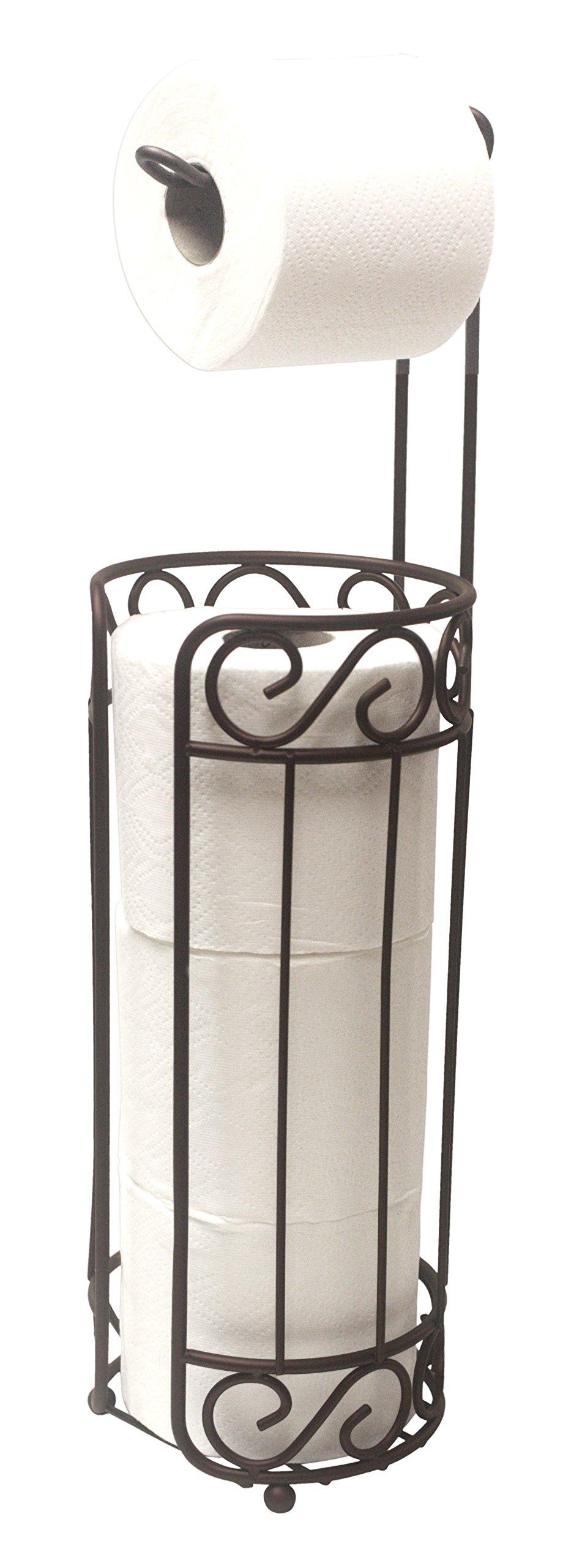 Home Basics Bronze Scroll Toilet Paper Holder and dispenser
