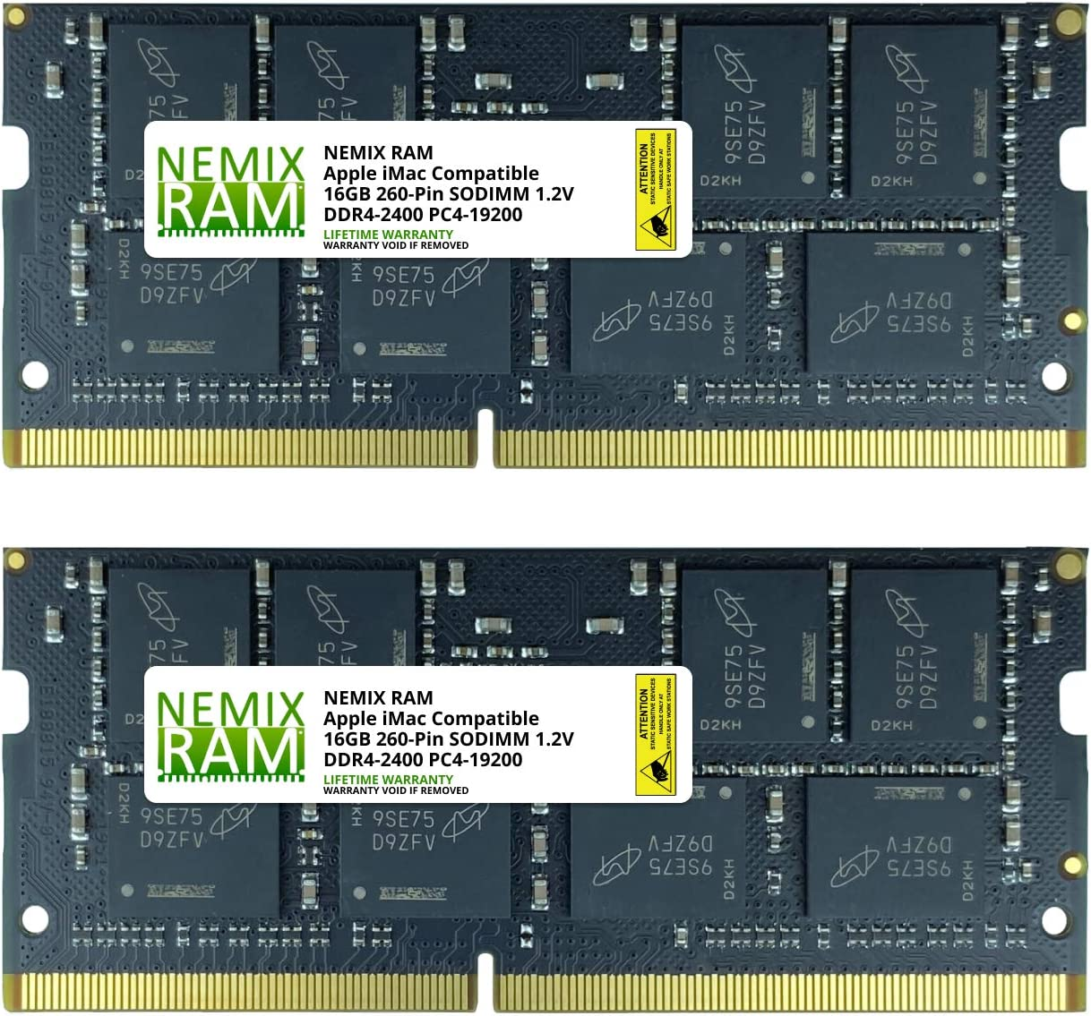 "32GB (2x16GB) DDR4-2400MHz PC4-19200 SO-DIMM Memory for Apple 21.5"" iMac with Retina 4K Display Mid 2020 by NEMIX RAM"