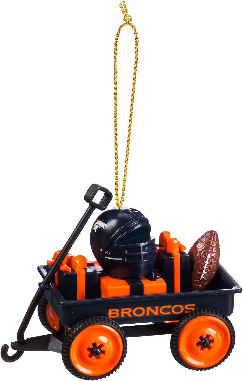 Team Sports America Denver Broncos NFL Team Wagon Ornament Christmas and Decor for Football Fans