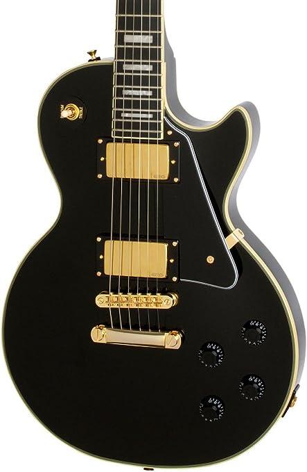 Epiphone Bjorn Gelotte signature Les Paul Custom Outfit - Guitarra eléctrica, color ebony