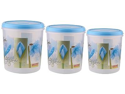 Ratan Ruby Plastic Container Set, 3-Pieces, Blue