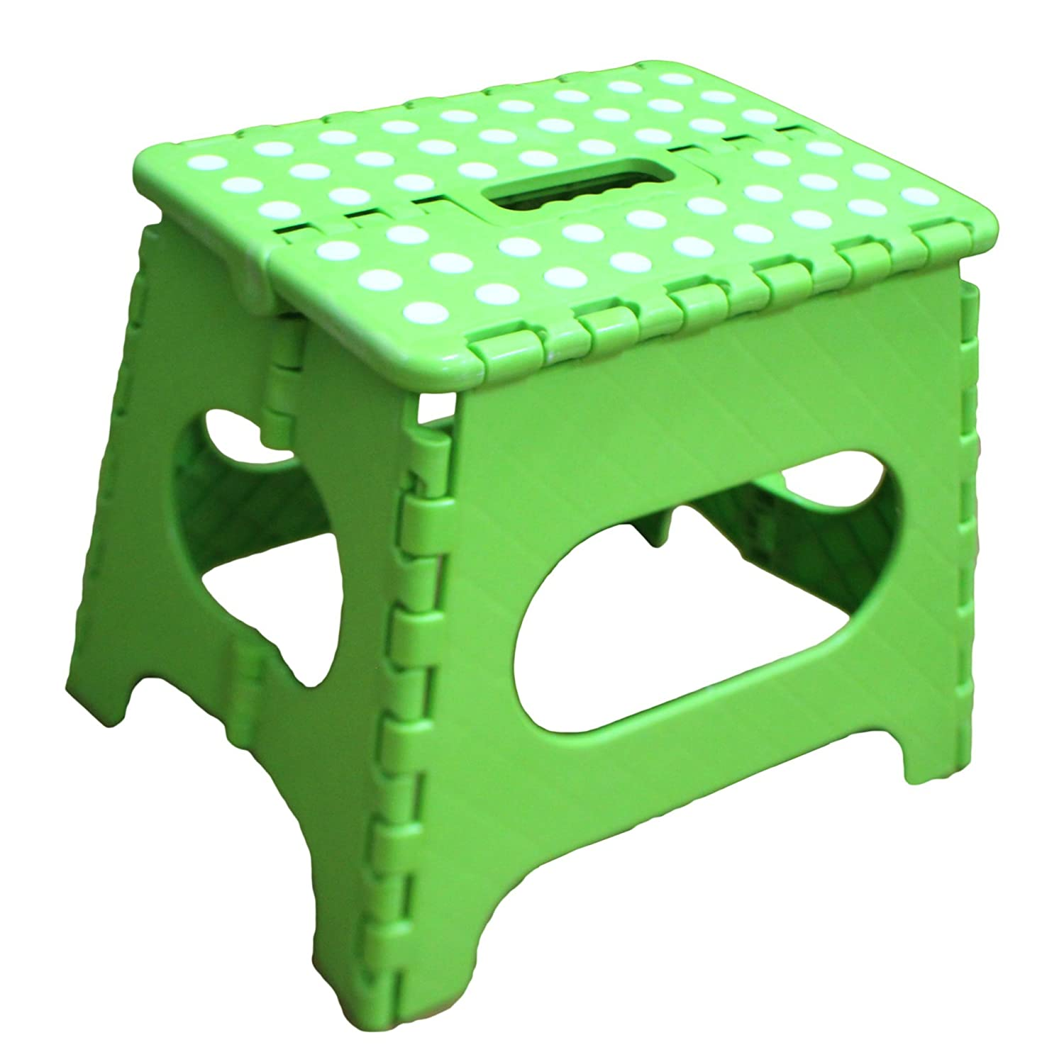 amazoncom jeronic 11inch plastic folding step stool green toys u0026 games