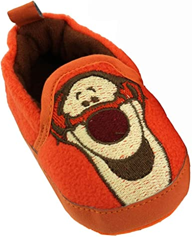 Details about  /Winnie The Pooh Tigger Piglett Boys Grey Low Top Slippers UK Sizes Child 5-10