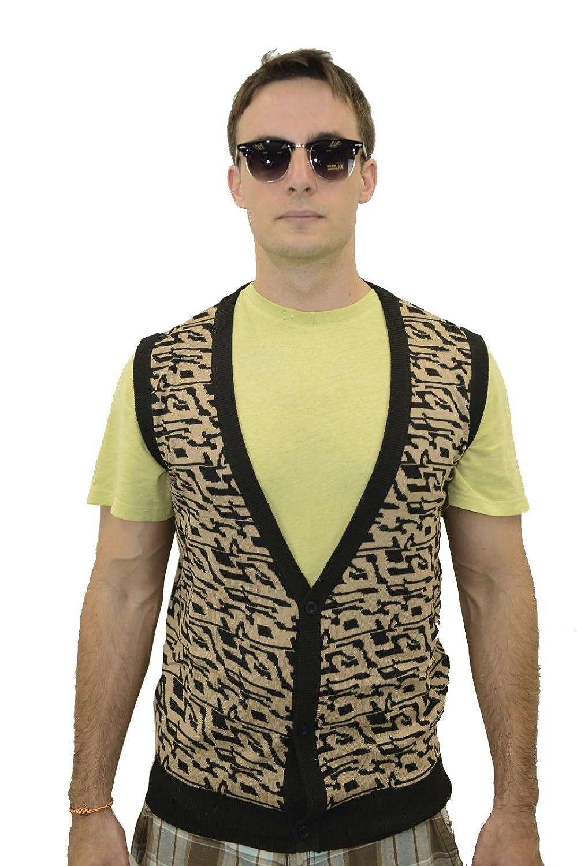 Leopard Sweater Vest Mens Her Sweater