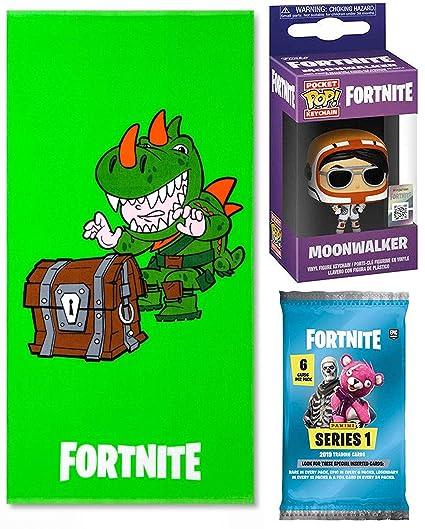 Amazon.com: Fortnite Shine Green Rex Character toalla de ...