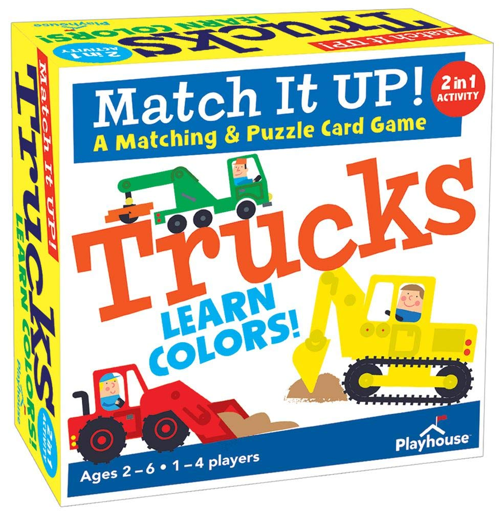 Playhouse Match it UP! Trucks Color Matching and Puzzle Card Game for Kids