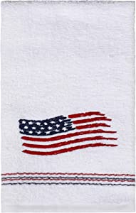 SKL HOME by Saturday Knight Ltd. American Flag Hand Towel, White