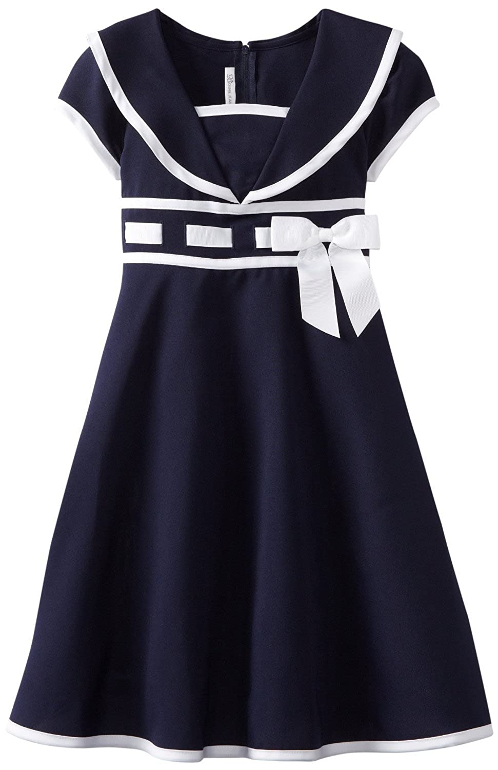 1930s Childrens Fashion: Girls, Boys, Toddler, Baby Costumes Girls Navy Sailor Dress - Nautical Dress $34.98 AT vintagedancer.com