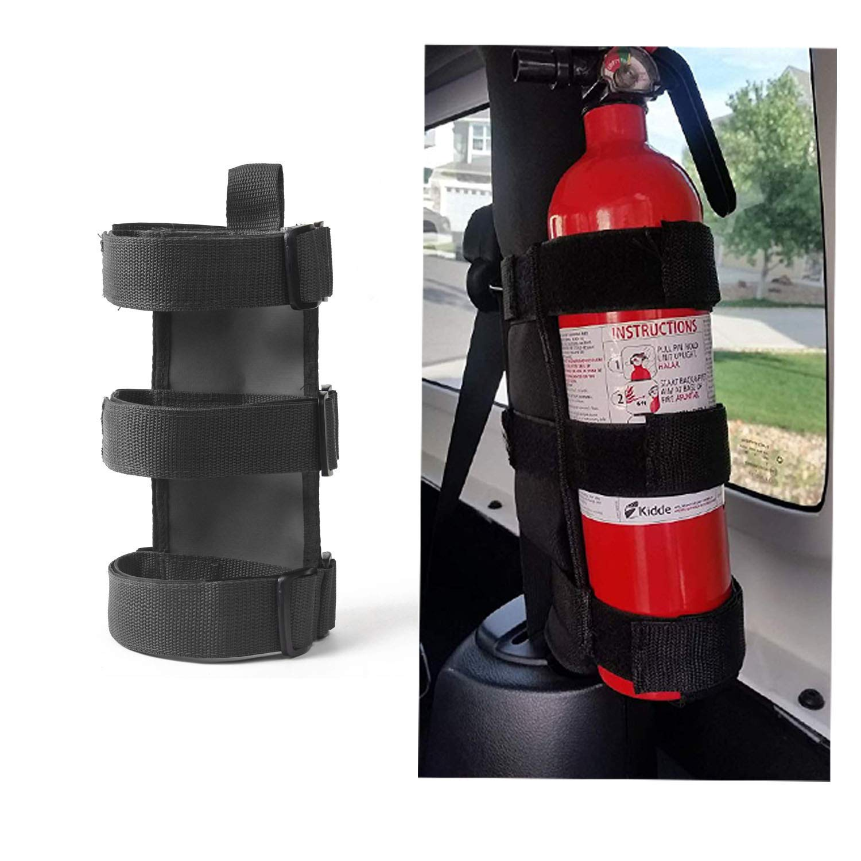 Adjustable Roll Bar Fire Extinguisher Mount Holder 3 lb for Jeep Wrangler JK JKU JL JLU Voodonalanj