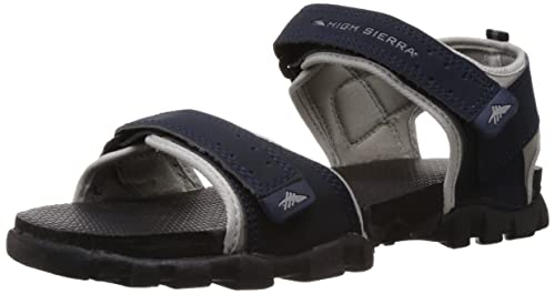 8ae577d83e0bc Image Unavailable. Image not available for. Colour: High Sierra Men's Grey  and Black Sandals and Floaters ...
