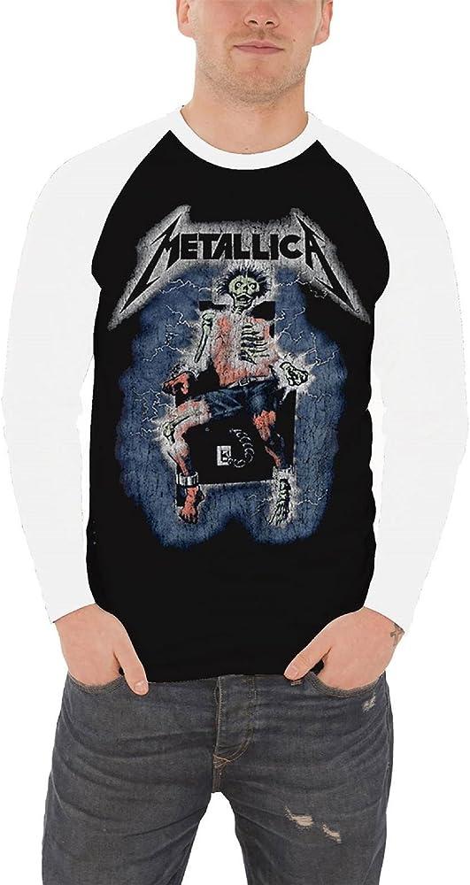 Metallica T Shirt Ride the Lightning band logo Oficial de los hombres camiseta: Amazon.es: Ropa y accesorios