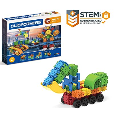 Clicformers Basic Set (150 Piece) Educational Building Blocks Kit, Construction STEM Toy, Creative Building Bricks: Toys & Games