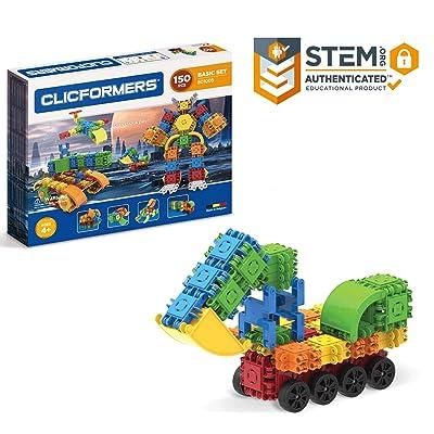 Clicformers Basic Set (150 Piece) Educational Building Blocks Kit, Construction STEM Toy, Creative Building Bricks: Toys & Games [5Bkhe0900440]