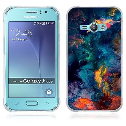 21c51abc4c6 FUBAODA Funda Samsung Galaxy J1 Ace Serie de Artística,Resistente a los  arañazos en su