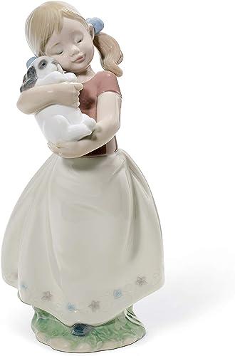 LLADR My Sweet Little Puppy Girl Figurine. Porcelain Girl Figure.
