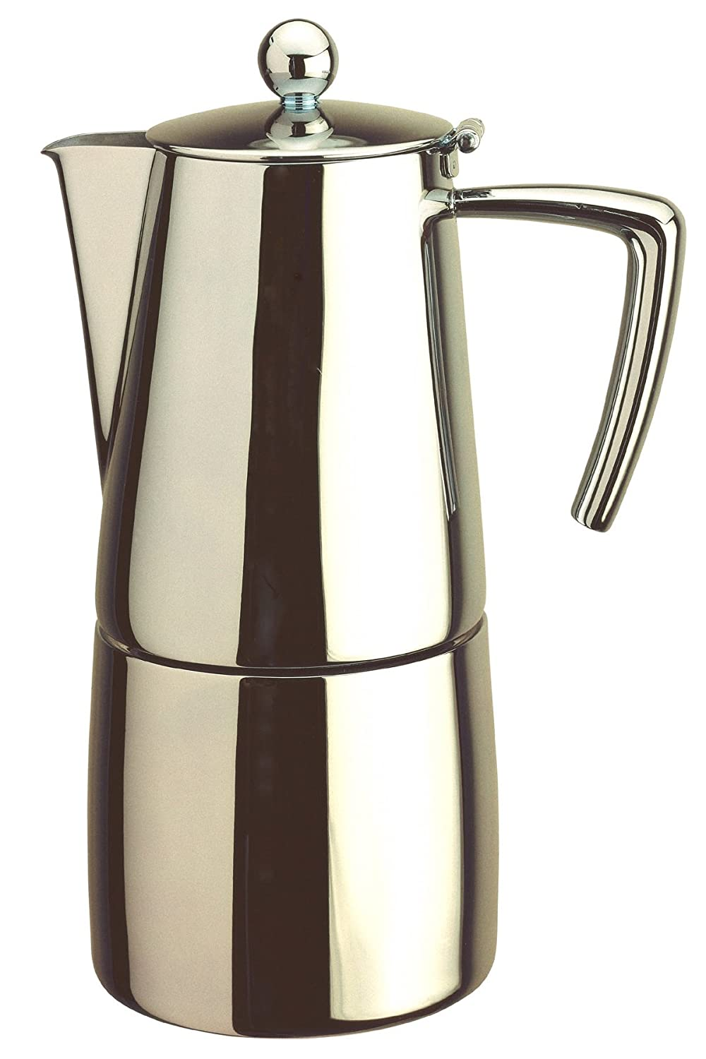 Stainless steel stovetop espresso maker 10 cup - Art Deco Stovetop Stainless Steel Espresso Coffee Maker 10 Cup Amazon Co Uk Kitchen Home