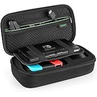 UGREEN Funda para Nintendo Switch Carcasa Rígida de Viaje Transporte de Consola Nintendo Switch, 2X Mandos Joy-con y Grip, Adaptador, 10 Cartuchos de Juego, Strap Joy-con, Cables y Otros Accesorios …