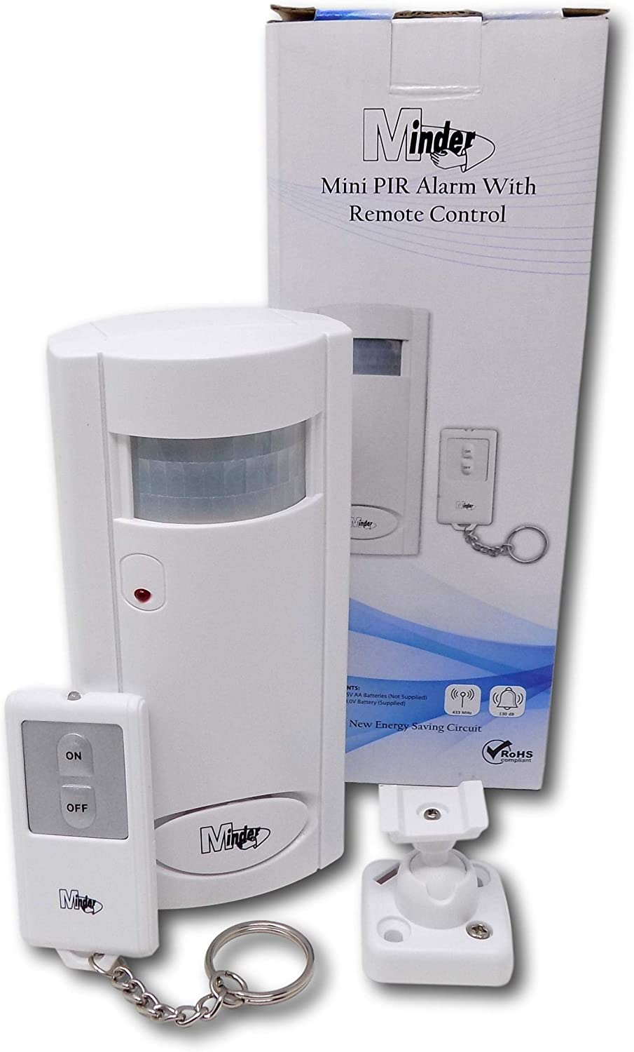 Wireless Remote Controller Mini Alarm with IR Infrared Motion Sensor Detector UK