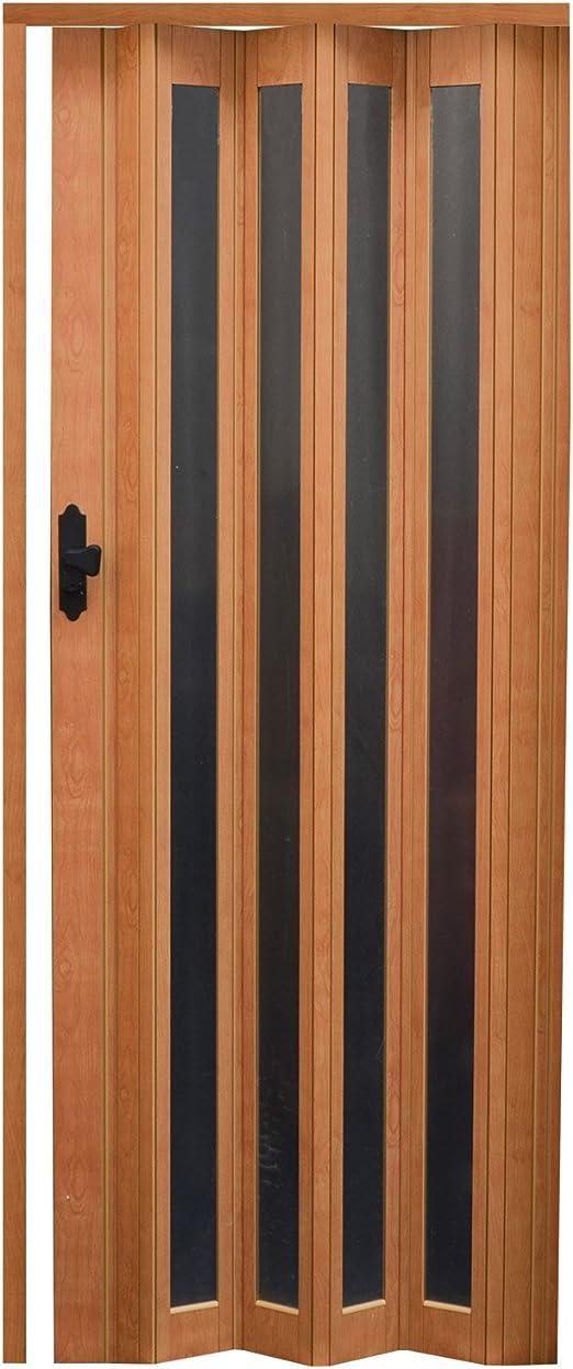 EYEPOWER Puerta Plegable 14722 Pellworm, con 4 Ventanas, Puerta corredera, de Madera de Haya, 86 x 203 cm: Amazon.es: Hogar