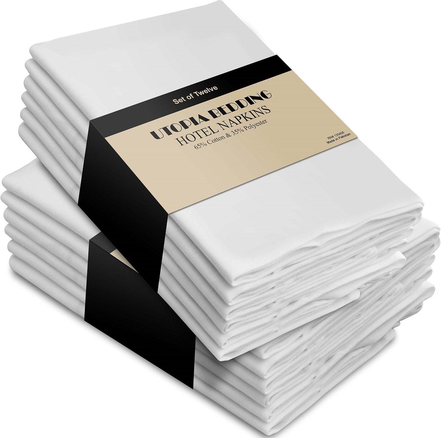 White Cloth Napkins (12 pk)