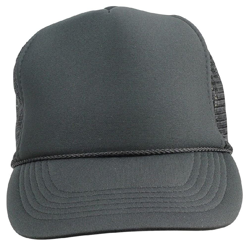 ba34d967b87dc Amazon.com  New Youth Trucker Hat Ball Cap Mesh Kids Blank Plain S Xs Red  Blue Gray Black White  Clothing