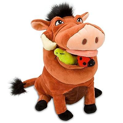 "Disney Store The Lion King 14"" Pumbaa Plush Stuffed Animal Toy: Toys & Games"