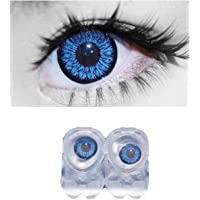 Diamond Eye Monthly Blue Colored Contact Lenses 0 Power By T&R Lens