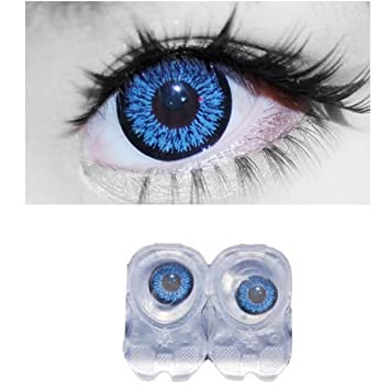 d6238f01727 Buy Diamond Eye Monthly Blue Colored Contact Lenses 0 Power By T R Lens  Online at Low Prices in India - Amazon.in