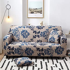 TSSCY High Stretchy Sofa Cover, Universal Couch Cover Soft Sofa Slipcover Durable Sofa Protector Anti-Slip Sofa Covers-c 2 Seater/loveseat