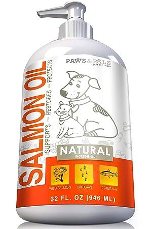 OxGord Suplementos de aceite de pescado/salmón puro para los perros o gatos 32 onzas: Amazon.es: Productos para mascotas