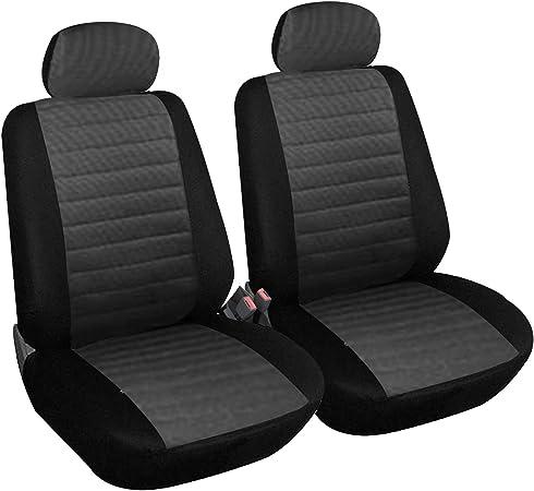 Esituro Scsc0035 2er Einzelsitzbezug Universal Sitzbezüge Für Auto Schonbezug Schoner Aus Polyester Grau Auto