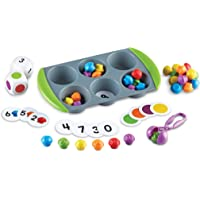 Learning Resources Mini Muffin Match Up Counting Toy Set, Homeschool, Fine Motor Tool, Kids Tweezers, 76 Pieces, Easter…