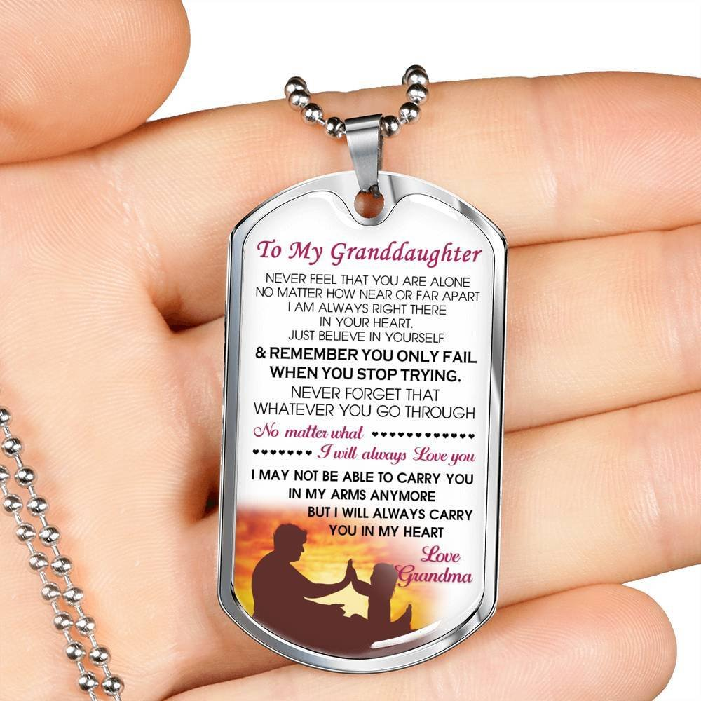 Anniversary Grandpa Love You to My Granddaughter Necklace Chain I Will Always Love You Customized Birthday Gifts Idea for Tween Girls//Kids On Xmas