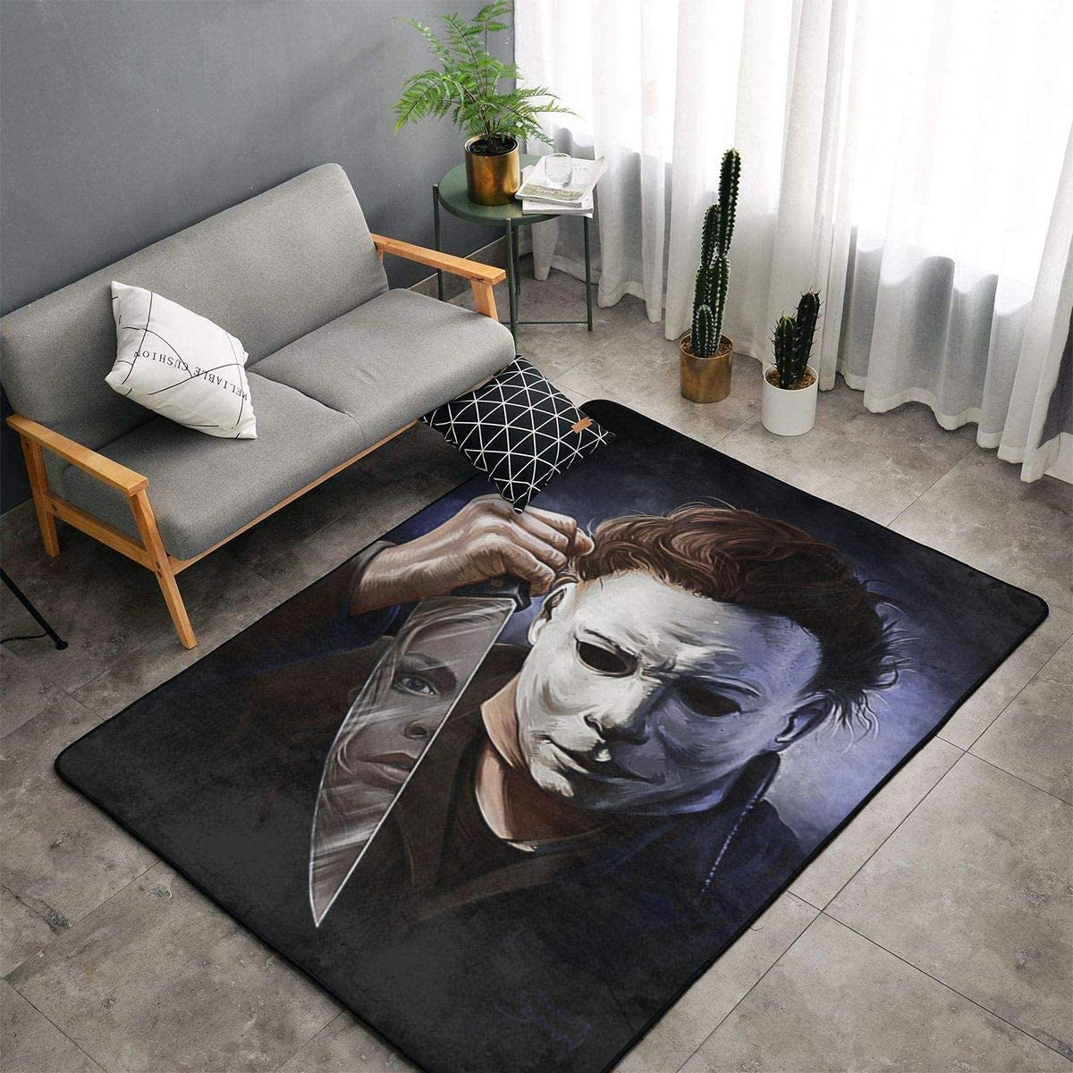 Snanna Michael Myers Ultra Soft Non-Slip Carpets Indoor Home Decorate Rugs Floor Carpets for Living Room Bedroom 60 X 39 in