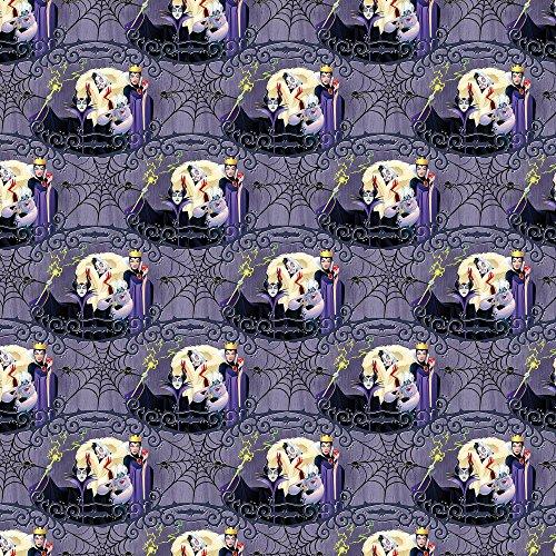 - Disney Villain Friends in Purple/Gray 100% Cotton Fabric by The Yard