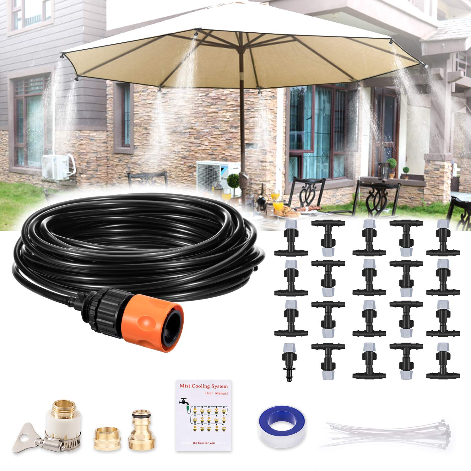 Patio, Lawn & Garden Misting Systems Patio Misting System with 20 ...