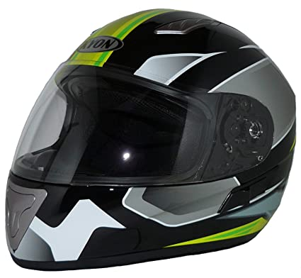 elegantstunning Unisex Casco Moto Equitazione Anti-Fall Parabrezza Casco Integrale Safe