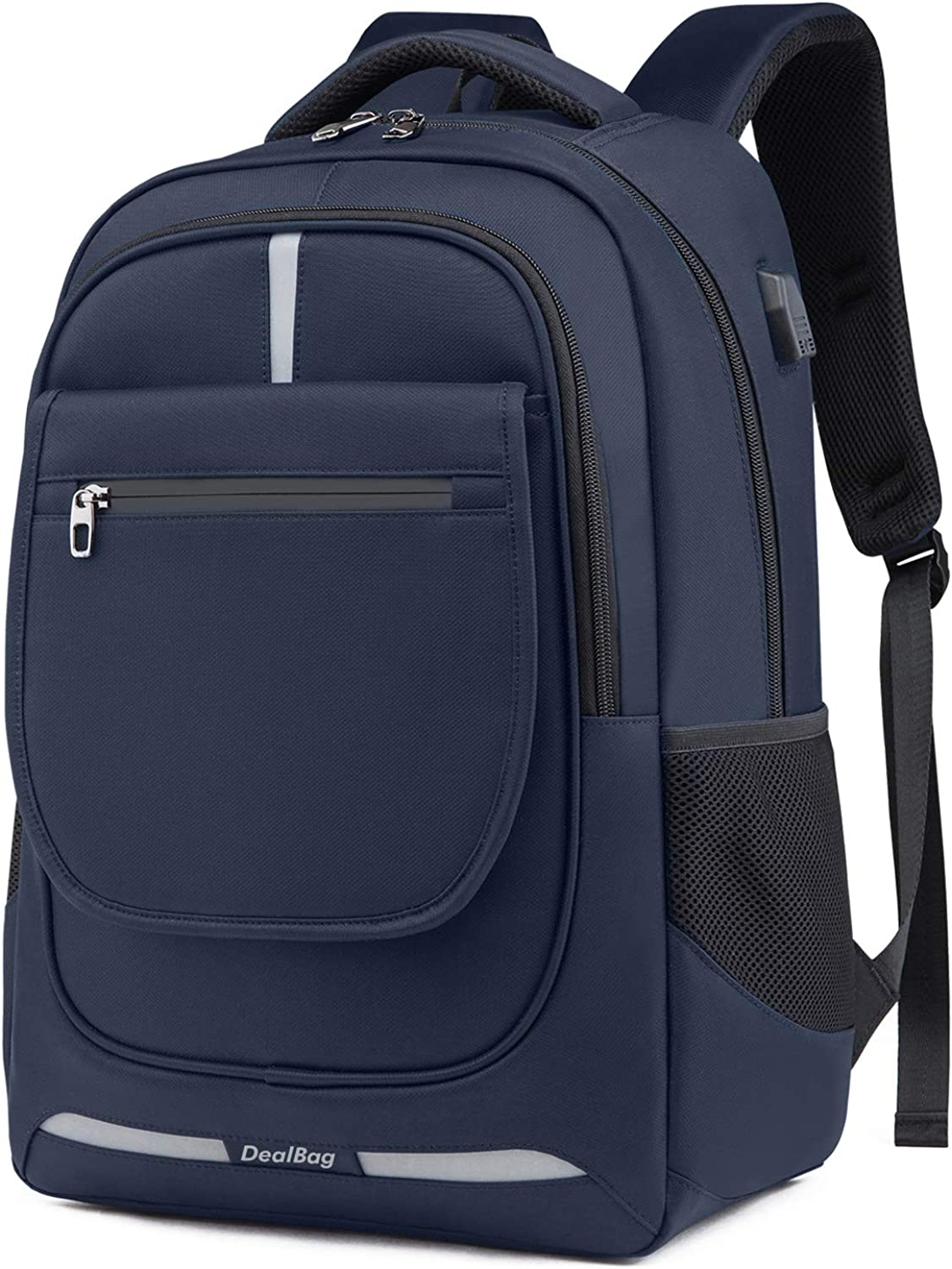 Laptop Computer Backpack,Business Travel Bag Fit 17 Inch Laptops with USB Charging Port (Purplish Blue)